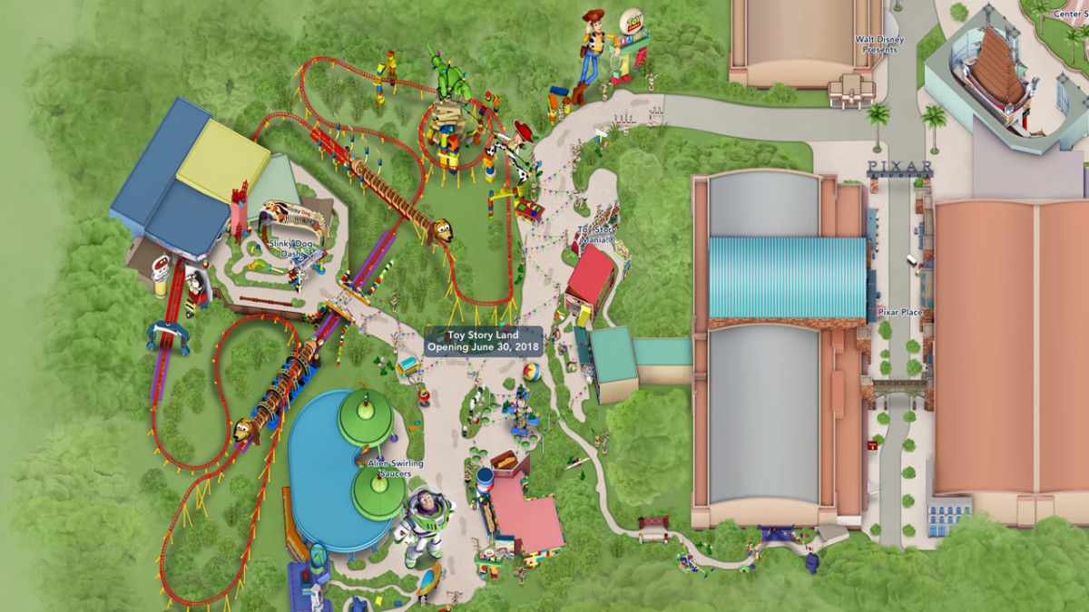Toy Story Land Digital Maps Debut Online 1