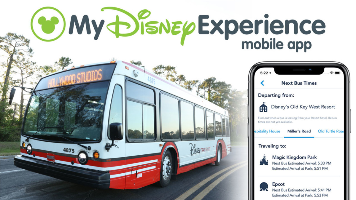 Bus Times at Walt Disney World Resort Now Available in Newly Redesigned My Disney Experience App 2