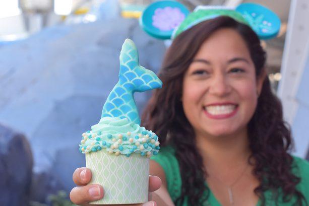 Mermaid Cupcake at Main Street Bakery at Magic Kingdom Park