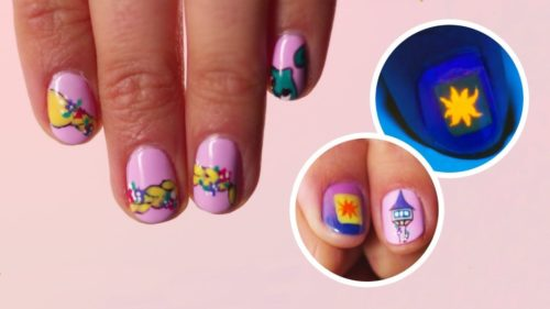 Magical Tangled Nail Art Ideas From Disneystyle