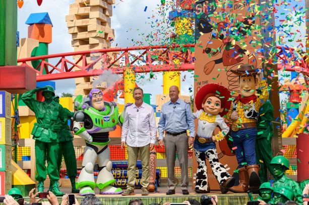 'Toy Story 4' Stars Tom Hanks, Tim Allen Share Thoughts on Toy Story Land as It Celebrates First Anniversary at Disney's Hollywood Studios 2