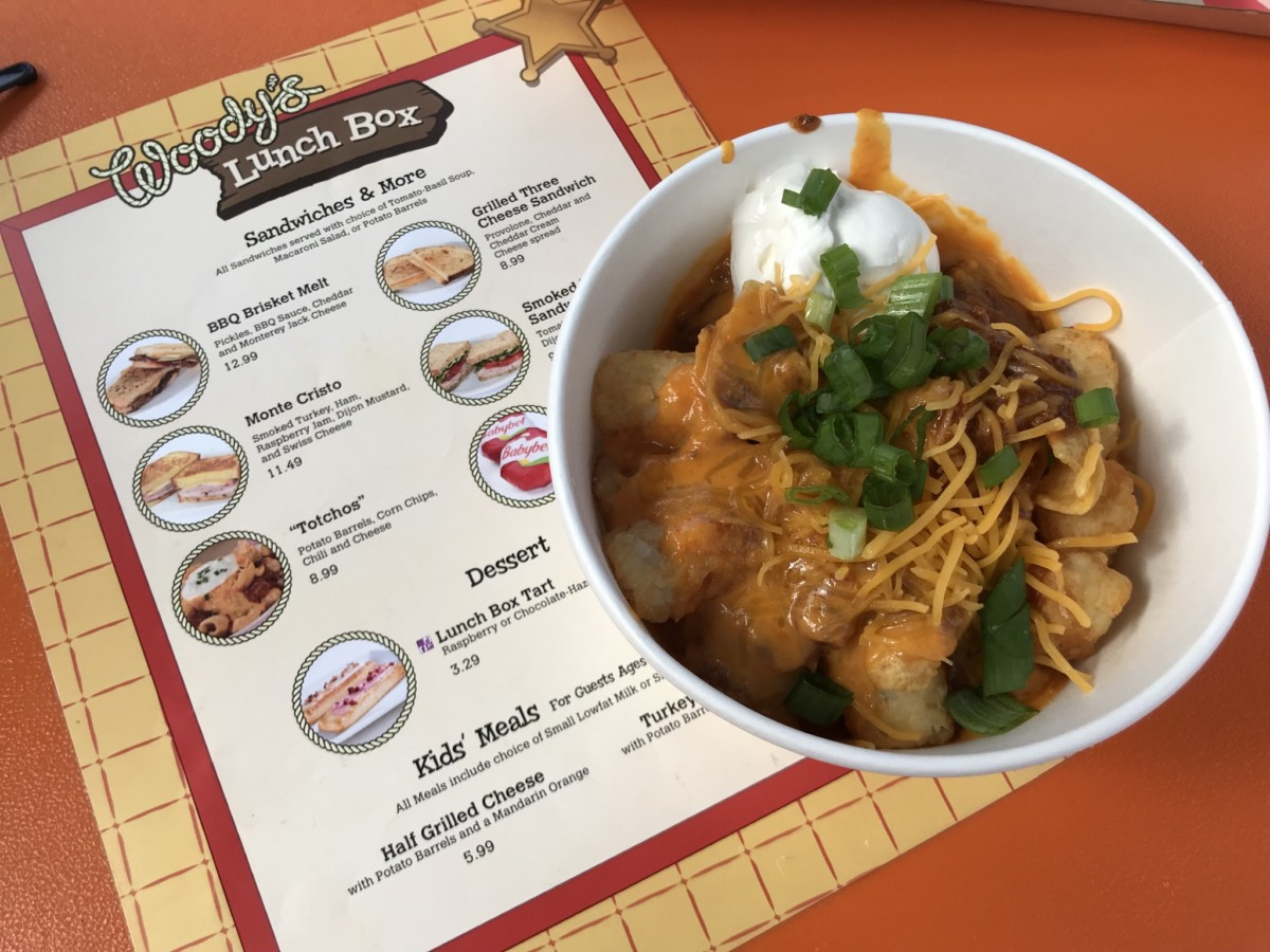 Totchos and More at Woody's Lunch Box #toystoryland 1