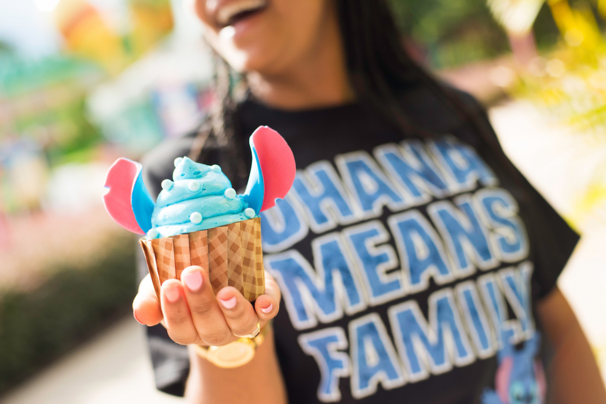 Stitch's Blue Raspberry Cupcake at End Zone Food Court at Disney's All Star Sports Resort
