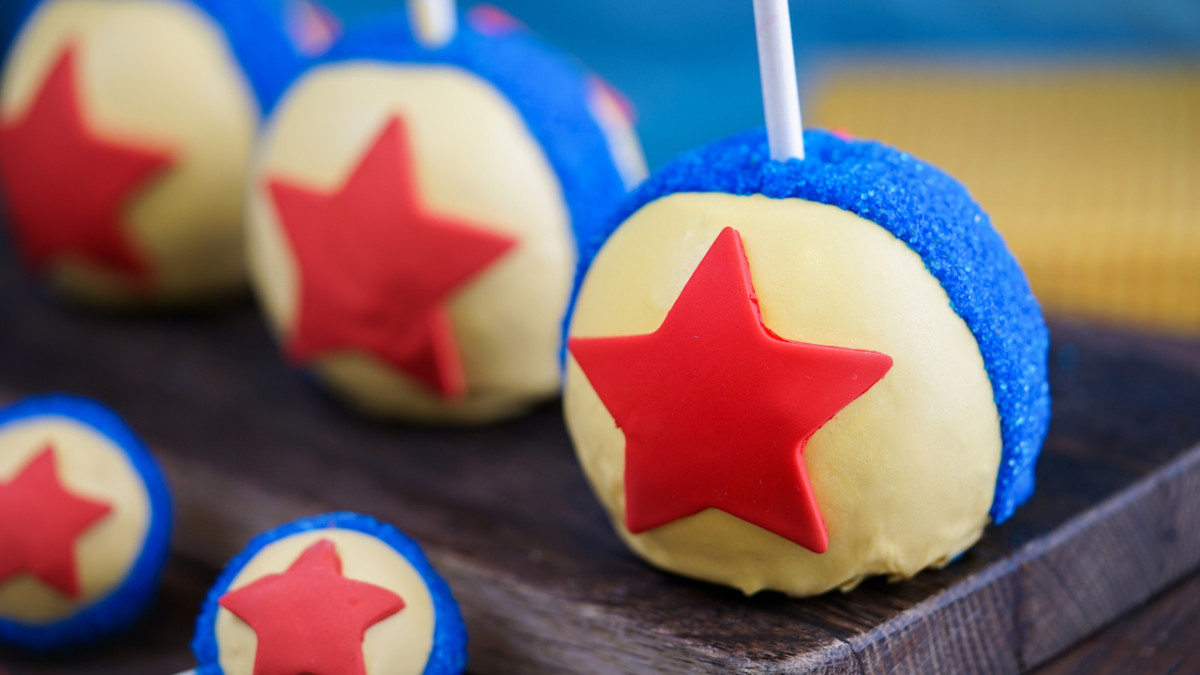 Pixar Ball Cake Pop and Apple at Disneyland Resort