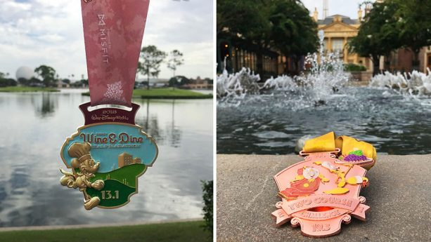 2018 Disney Wine & Dine Half Marathon Weekend Medals
