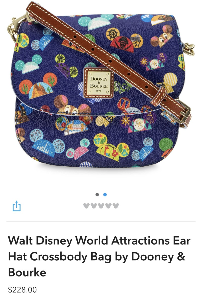New WDW Attractions Ear Hat Dooney and Bourke Bags! 4