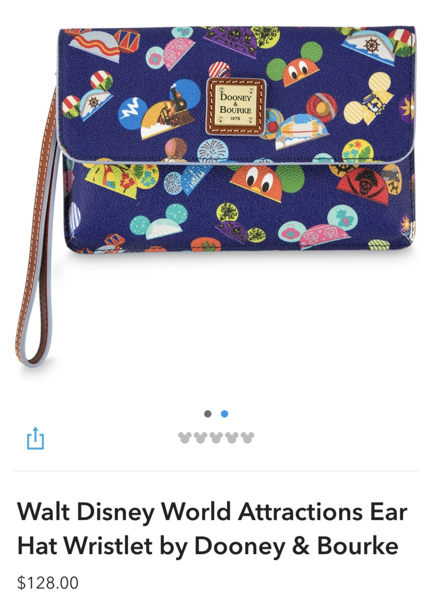 New WDW Attractions Ear Hat Dooney and Bourke Bags! 2