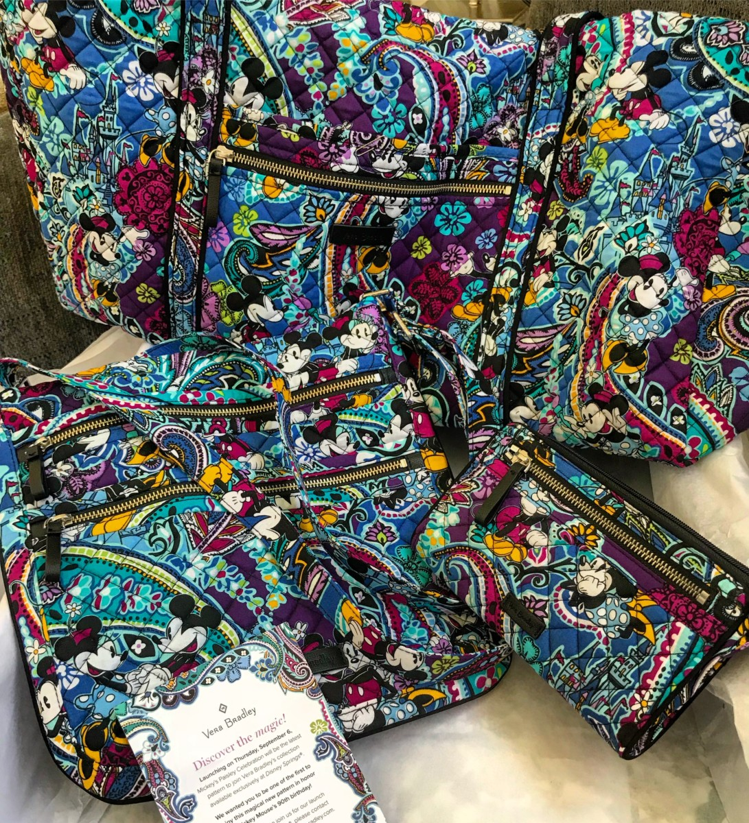 Vera Bradley Mickey's Paisley Celebration Collection 31