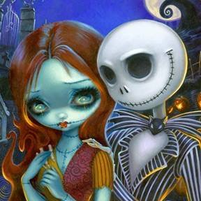 New Jack and Sally Print from Jasmine Becket-Griffith 1