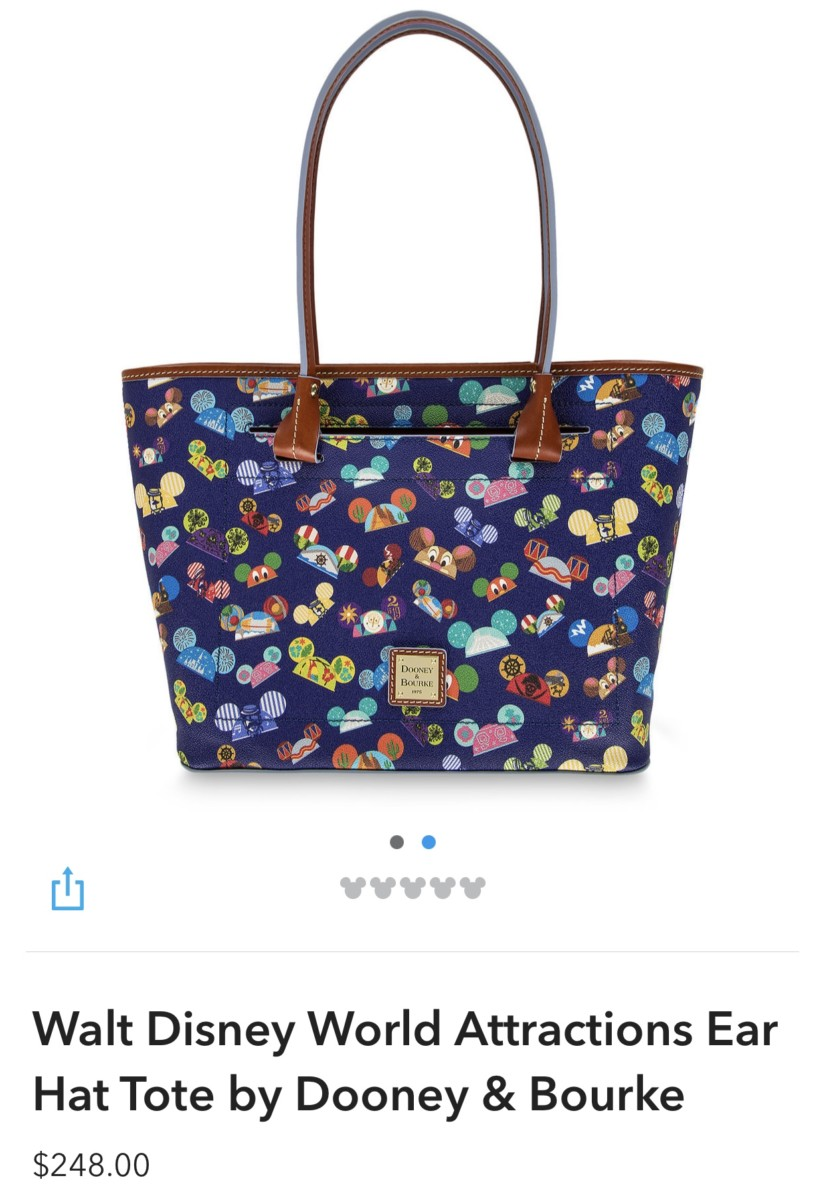 New WDW Attractions Ear Hat Dooney and Bourke Bags! 3