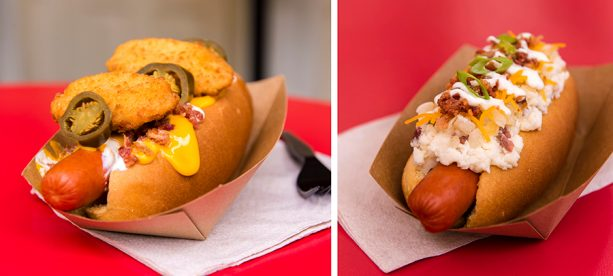 September and October Hot Diggity Dogs of the Month at Casey's Corner at Magic Kingdom Park