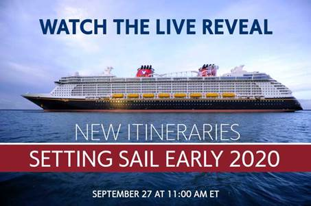 Watch it Live: Disney Cruise Line to Unveil New Cruises in 2020 This Thursday 1