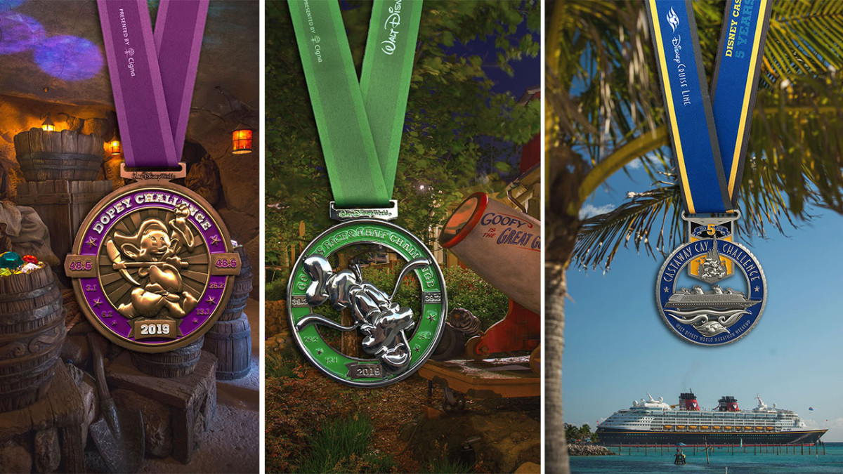 2018 Dopey Challenge, Goofy Challenge and Castaway Cay Challenge Finisher Medals