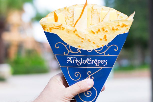 Brie Cheese and Bosc Pear Crepe at AristoCrepes for WonderFall Flavors at Disney Springs