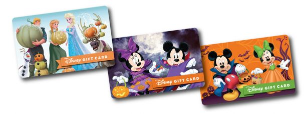 New Halloween Disney Gift Card Designs are a Treat! 6