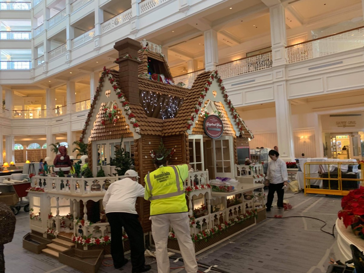 The Gingerbread House is Being Assembled at Disney's Grand Floridian! 1
