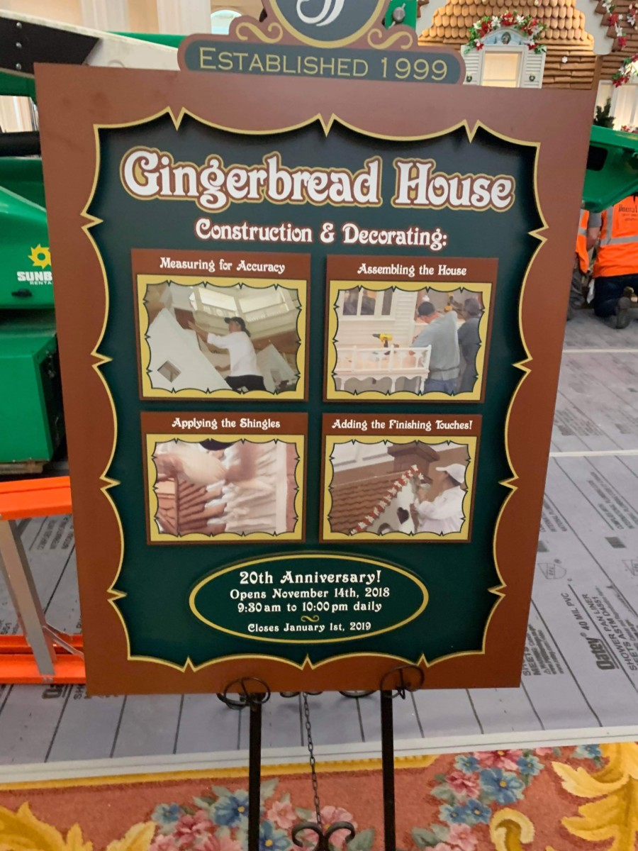 The Gingerbread House is Being Assembled at Disney's Grand Floridian! 3