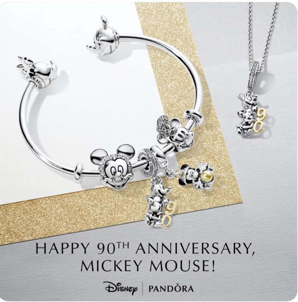 New Pandora Jewelry for Mickey's 90th Birthday! #Mickey90 13