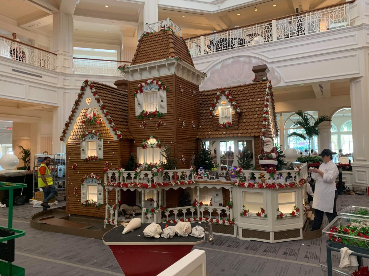 The Gingerbread House is Being Assembled at Disney's Grand Floridian! 4