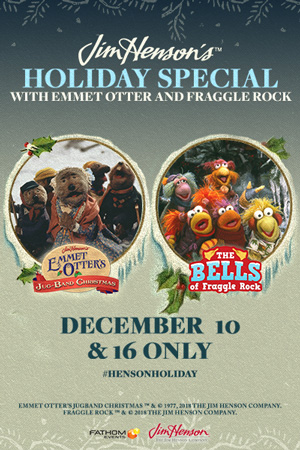 For the First Time Ever This December, Two Jim Henson Holiday Favorites Hit the Big Screen: 'Emmet Otter's Jug-Band Christmas' and 'The Bells of Fraggle Rock' 1