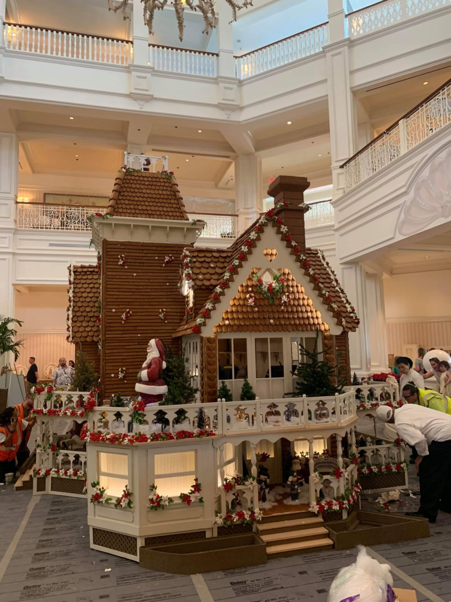 The Gingerbread House is Being Assembled at Disney's Grand Floridian! 8