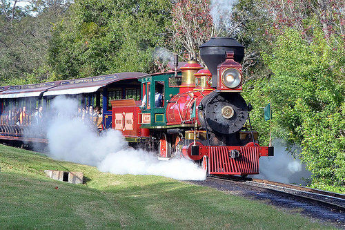 All Aboard the Magic Kingdom train before its temporary close! 11