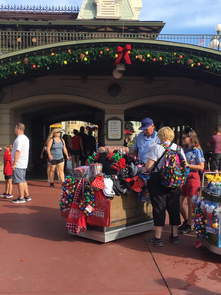 Christmas Decorations are Appearing at Magic Kingdom! 1