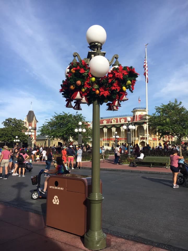 Christmas Decorations are Appearing at Magic Kingdom! 2