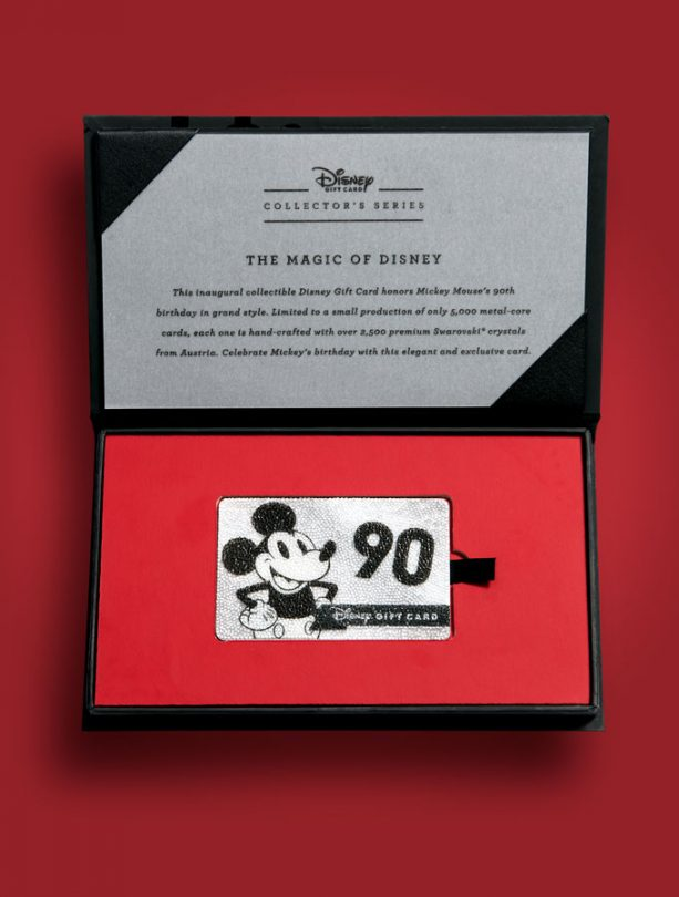 Disney Gift Card Collector's Series Honors 90 Years of Mickey Mouse 1