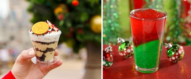 Scrooge McDuck Eggnog Custard and Mickey's Very Berry Lemonade for Mickey's Very Merry Christmas Party at Magic Kingdom Park
