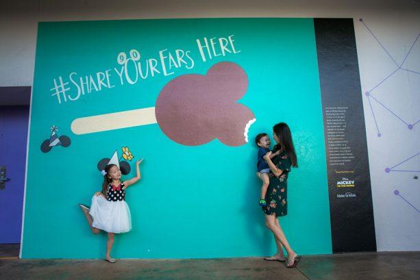 #ShareYourEars wall at Magic Kingdom Park