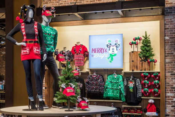 Holiday apparel at World of Disney in the Downtown Disney District