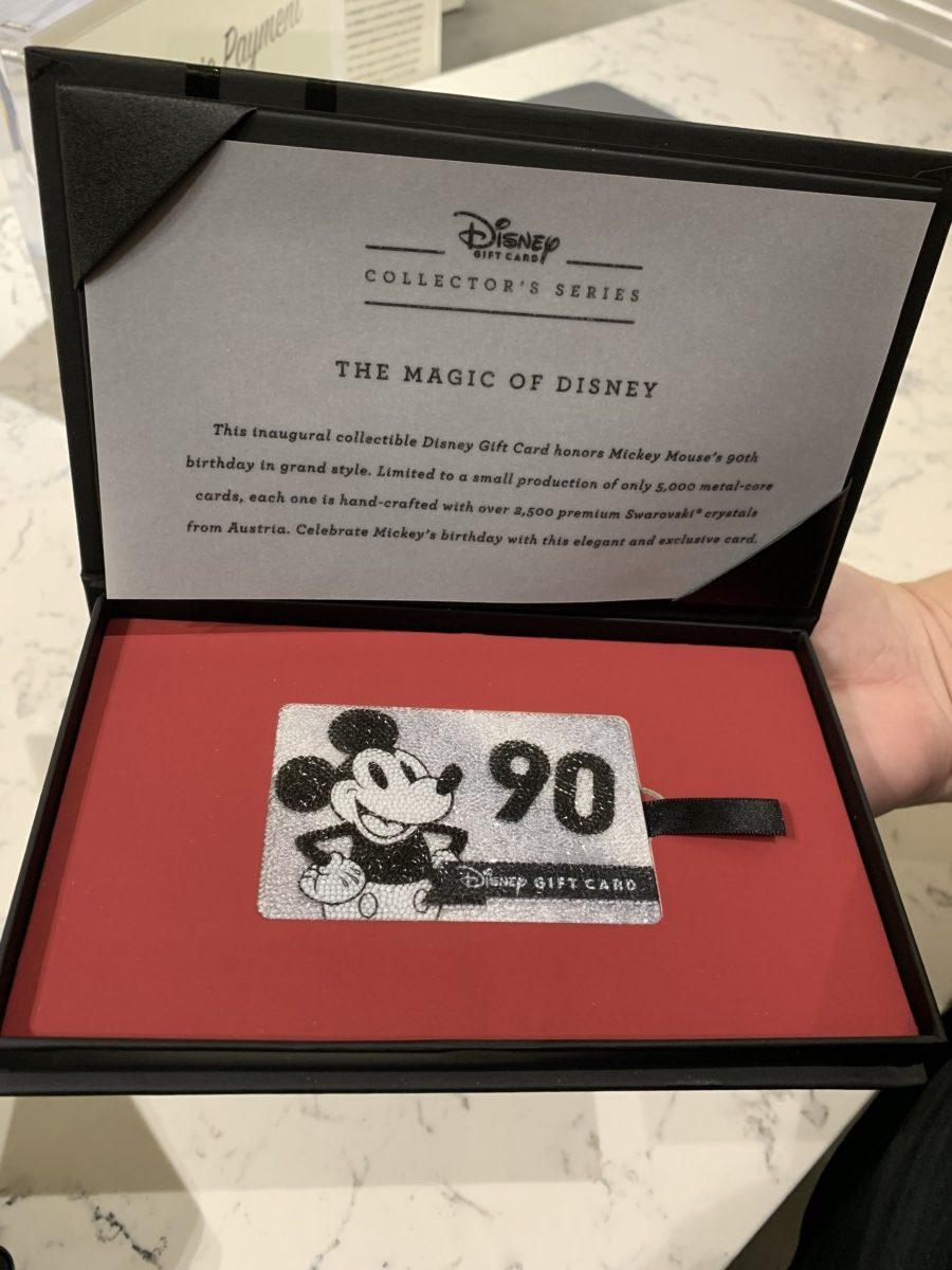 Beautiful Swarovski Mickey Gift Card! 3