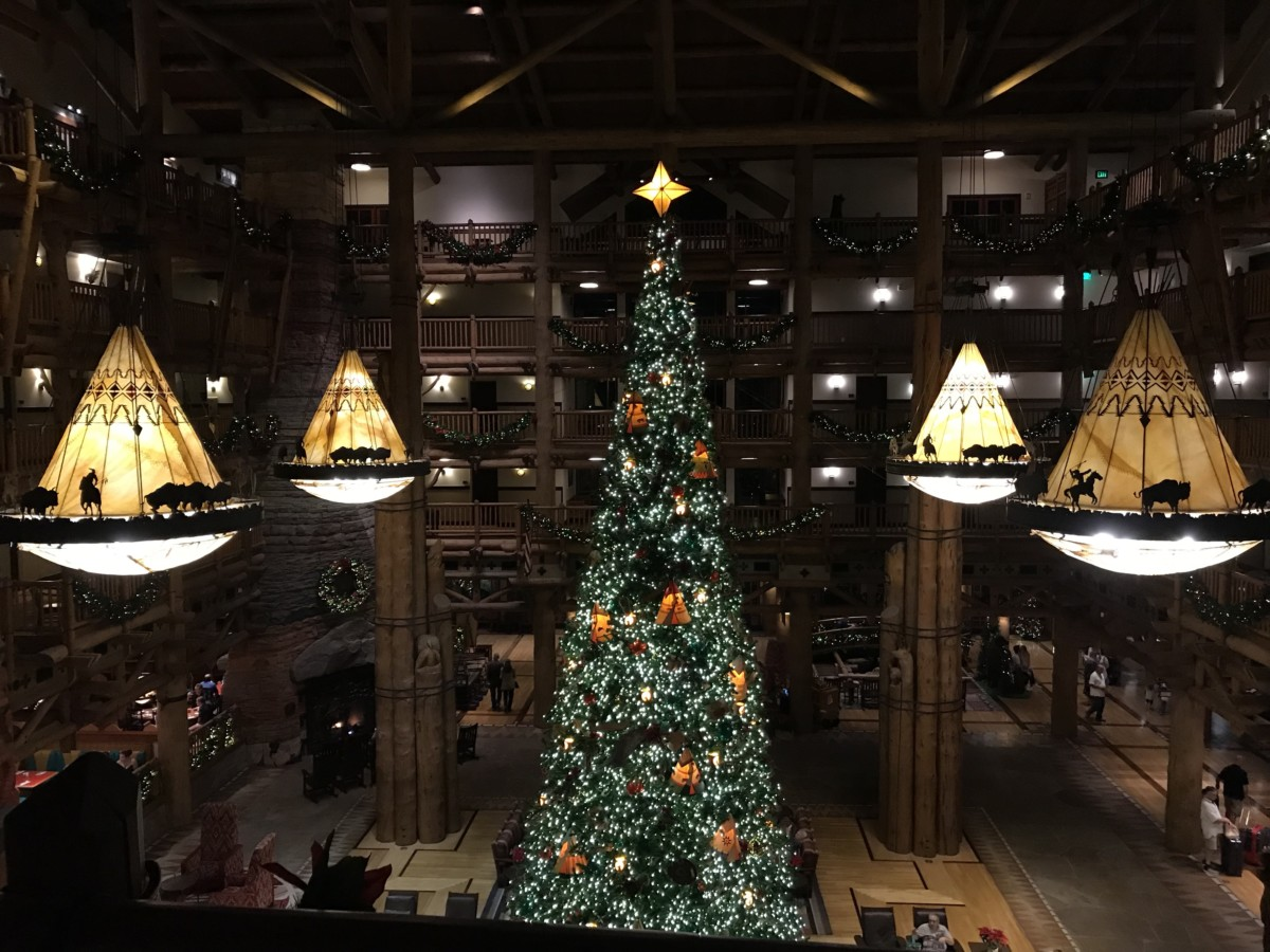 Holiday Decor at Wilderness Lodge 1