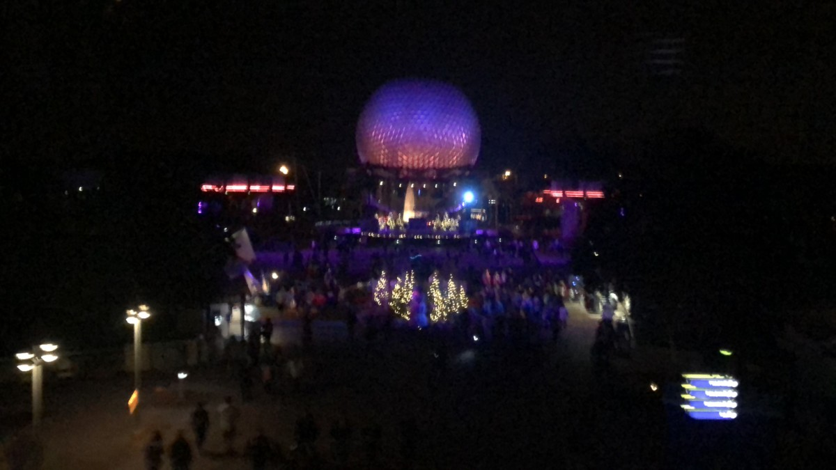 See Epcot's Holiday Decor from the Monorail! 13