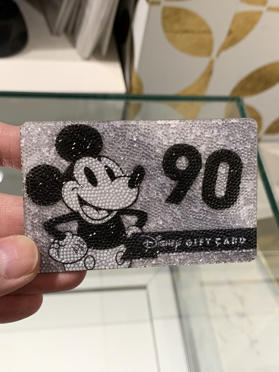 Beautiful Swarovski Mickey Gift Card! 1