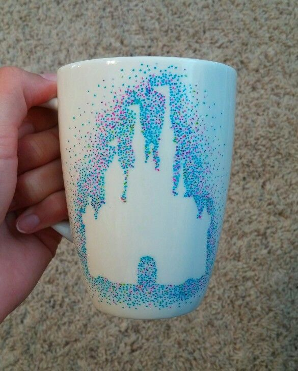 DIY Disney Dot Mug 7