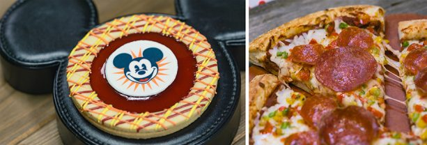 Specialty Items for Get Your Ears On at Disney California Adventure Park - Mickey Fun Wheel Cookie and Spectacular Mickey Pizza