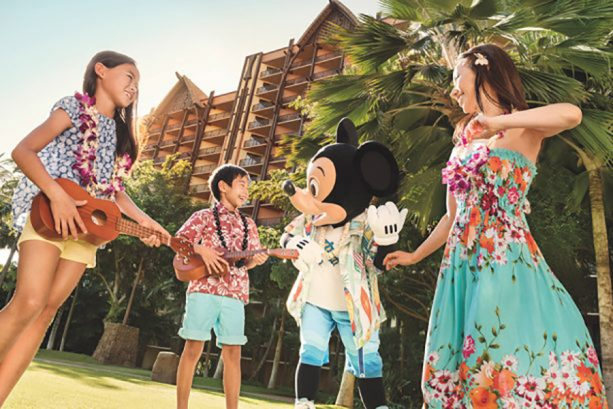 Enjoying the beach at Aulani: A Disney Resort & Spa