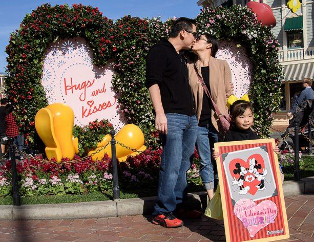 New flower portrait in Town Square, Disneyland park