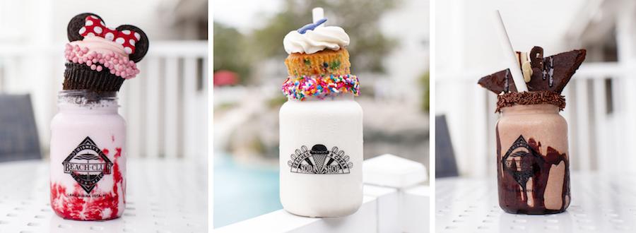 Milk Shakes from Beaches and Cream Soda Shop at Disney's Beach Club Resort
