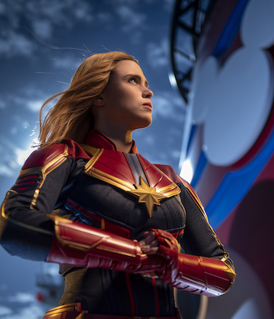 Exclusive Photos: Captain Marvel Lands Aboard Disney Cruise Line 19