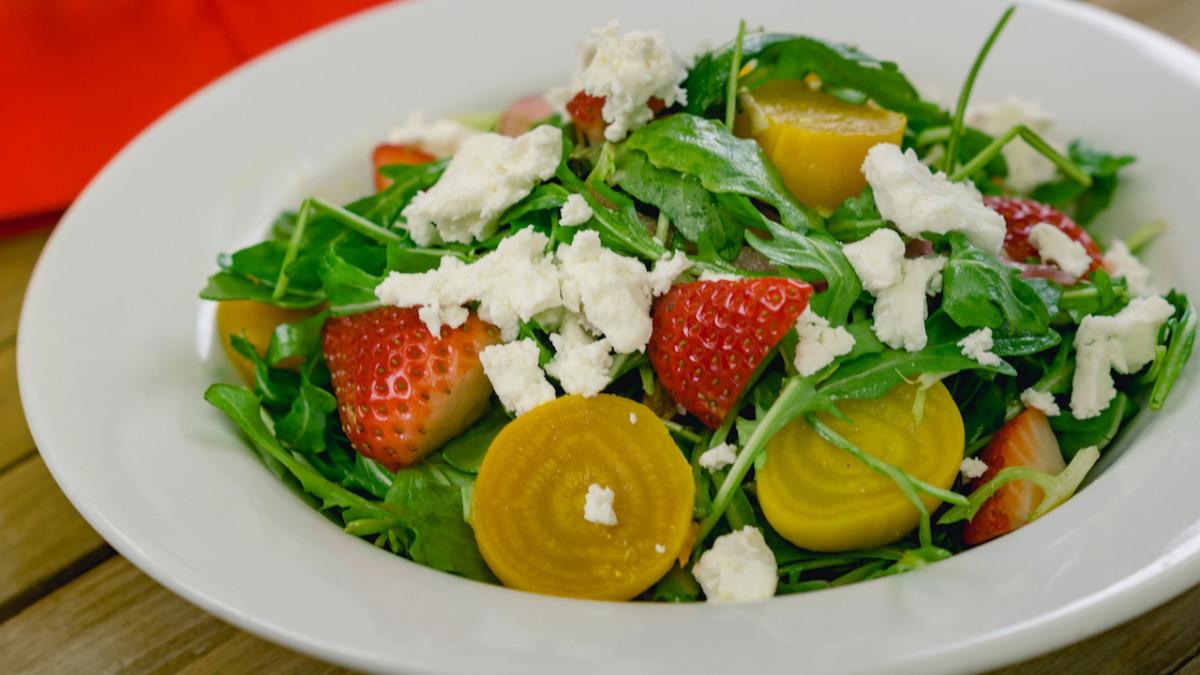Strawberry Beet Salad from Blue Bayou Restaurant for Minnie's Valentine's Day Surprise at Disneyland Park