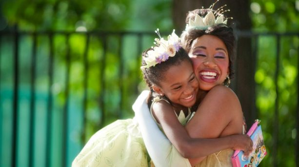 Young guest meeting Princess Tiana