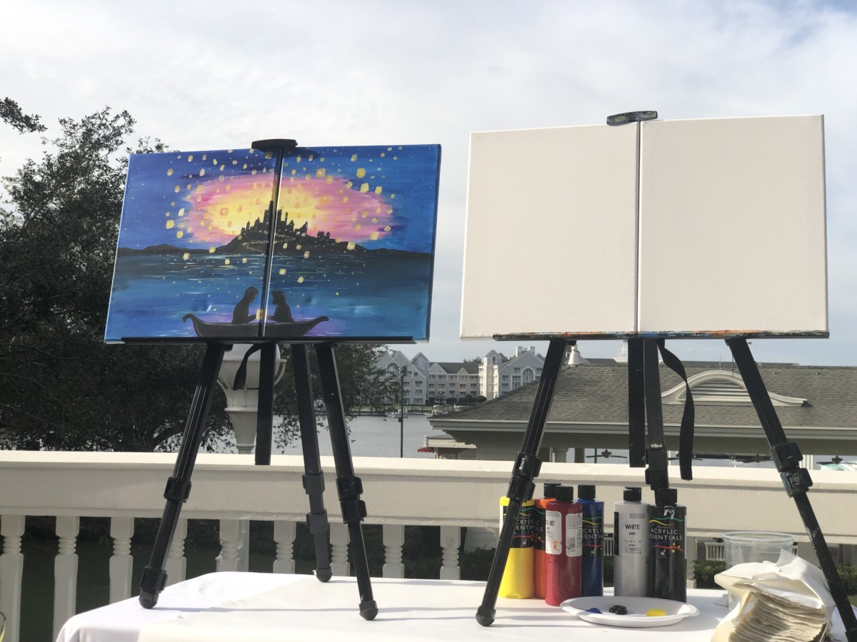 Canvas Painting on the Board ~ Special Event at Disney's Boardwalk Inn! 2