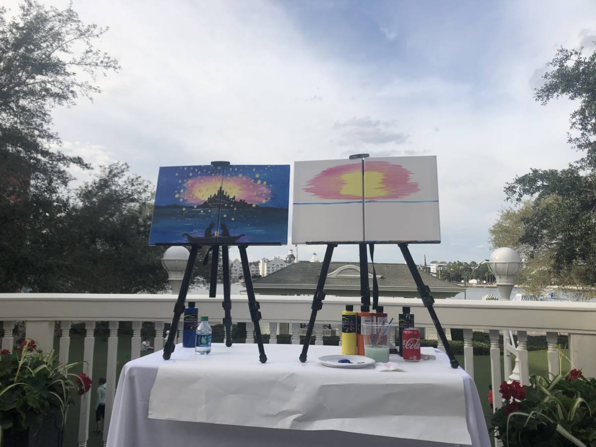 Canvas Painting on the Board ~ Special Event at Disney's Boardwalk Inn! 1