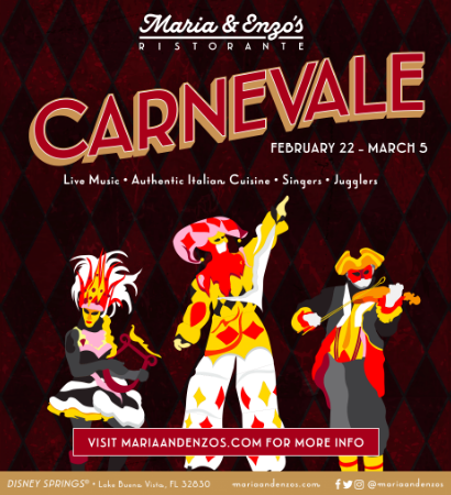 Carnevale at Maria and Enzo's, Disney Springs! 1