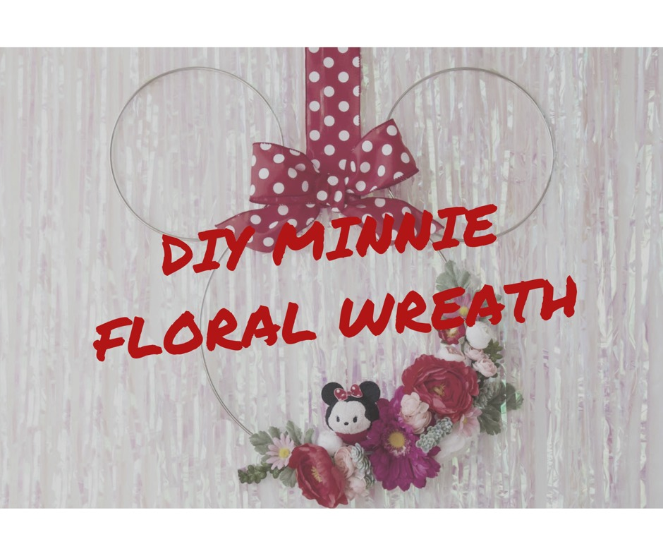 DIY Minnie Floral Wreath 46
