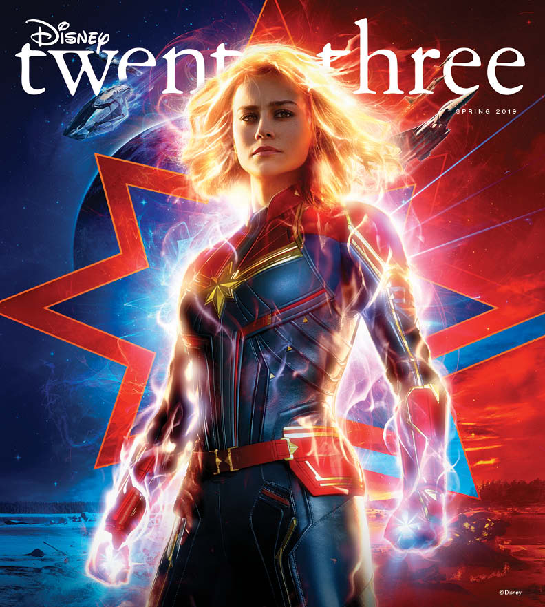 Captain Marvel Lands on the Cover of D23!  #D23 1