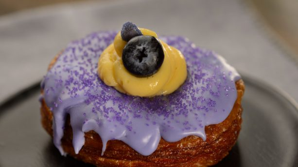 Violet Blueberry Vanilla Croissant Doughnut from Taste Track at the 2019 Epcot International Flower & Garden Festival